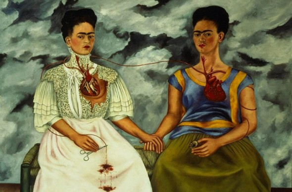"""Frida-Kahlos-1939-oil-painting-""""The-Two-Fridas-590x389"""