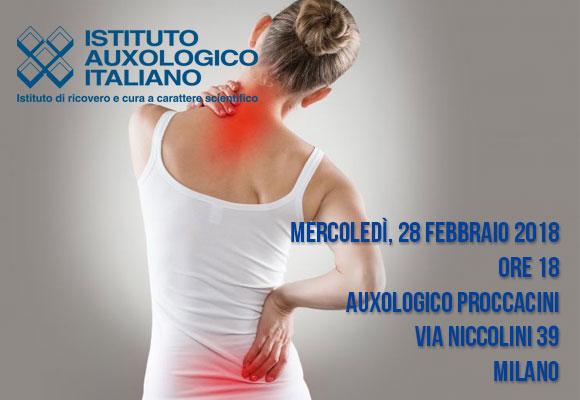 Evento gratuito organizzato da Istituto Auxologico Italiano su mal di schiena e schiatica