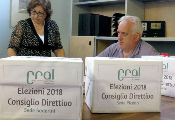 Esito elezioni Consiglio Direttivo Cral 2018