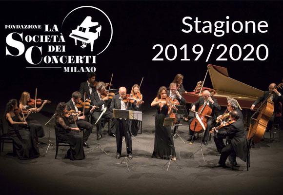 STAGIONE CONCERTISTICA 2019/2020 presso il CONSERVATORIO DI MILANO